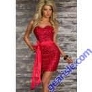 Bodycon Dress Strapless Sequin 6616 Lingerie
