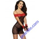 Dreamgirl 8660 Stretch Lace Chemise With Wrist Restraints Lingerie