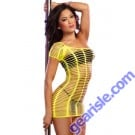 Dreamgirl 9291 Dancing Doll Slash Dress With Bra Top And G String