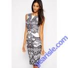 Pencil Party Dress Women Work Wear Formal Business Summer Dress 9326