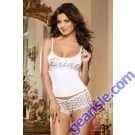 Dreamgirl 9362 First Kiss Bridal Lingerie Sleepwear Tank Top And Panty