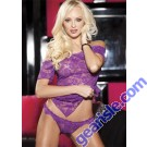 Lingerie 96351 - Stretch Lace Chemise And Panty