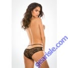 Sweet Heavens Crotchless Panty Front Back Lace Panels A1002