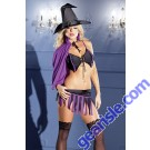 Be Wicked Women's Magical Charmer 3 Piece Lingerie 1272