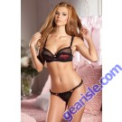 Dot Satin And Mesh Bra 2 Piece Set Be Wicked 1351