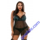 Halle Lace Babydoll Garters Matching Panty Curve P226