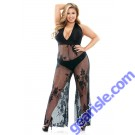 Nicki Stretch Micro Lace Halter Jumpsuit Panty Curve P510