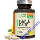 Female Libido Supplement Maca Tribulus Horny Goat Weed Desire Energy Support 120ct
