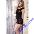Lady's Killer Legs Fishnet Body Stocking 818JT053 Yelete Group Lingerie-Black