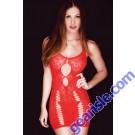 Lady's Killer Legs Fishnet Body Stocking 818JT090 Red Yelete Group Lingerie