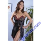 Charmeuse Baby Doll With Embroidered Laces Vx Intimate Lingerie 5059
