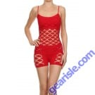 Lady's Seamless Underwear Set SML5003 White And Red Yelete Group Lingerie