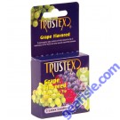Grape Flavored 3 Lubricated Latex Condoms Trustex