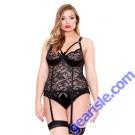 Lace Satin Bustier Detachable Garters Matching Panty Curve P172