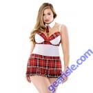 Teacher's Pet School Girl Set Tie Choker  Apron Dress Panty Curve P178