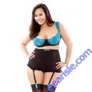Underwire Bra Detachable Gartered High Waist Panty Curve P180
