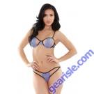 Belle Stretch Lace Bra Cutout Panty Set Tease B176