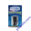 Titan Men Black Tools Cock Cage Stretch to Fit Cock RIng Toy