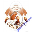 Endurance 3 Pack of Flavored Lubricated Condoms in Vanilla