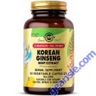 Solgar Korean Ginseng Root Extract 60 Vegetable Pills Full Potency Vegan