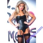 Naughty Nights Corset Faux Leather 11-9402