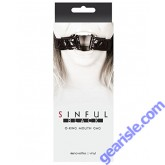 Sinful Black O-Ring Mouth Gag