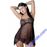 Mesh Baby Doll With Stretch Lace Style 5174
