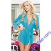 Pure See Through Sleepwear Soft Kimono Cheeky Panty 5245 Style