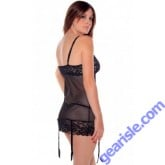 Dotted Mesh Baby Doll With Stretch Lace Cups And Hem Style 5256