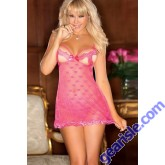 Babydoll Pink Color Sexy Clothes 5544B Lingerie For Women