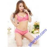 Sexy Hot Pink Star Bra&Short Set  Luxury Babydoll 9007 Lingerie