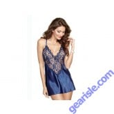 Dreamgirl 8718 Midnight Lace Chemise