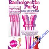 Bachelorette 12 inch Dicky Straws