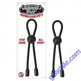 Adjustable Silicone Cock Tie Black Mack Tuff