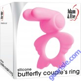 Adam and Eve Silicone Butterfly Couple's Penis Ring