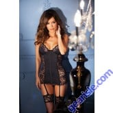 Lace Spandex Underwire Cups Bodyhugging Chemise Lingerie 1327 Style