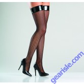 Vinyl Top Fishnet Thigh Highs Be Wicked BW775 Lingerie