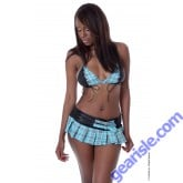 Vx Intimates C073 Schoolgirl Costume Bra And Skirt G-String Lingerie