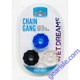 Wet Dreams Chain Link Mega Stretch Jelly Cock Rings 3Pack