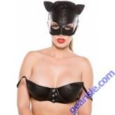 Faux Leather Cat Mask CM-4005