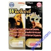 Wicked Kitty Couple package 2000mg/1750mg him and her Enhancement pill