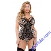 Odessa Cutout Molded Cup Bustier Matching Panty Curve P219