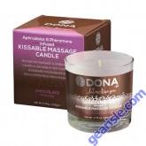 Dona Kissable Massage Candle Chocolate Mousse 4.75 Oz