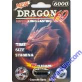 Dragon 69 6000 Male Sexual Performance Enhancer 1 Pill 3D