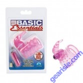 Basic Essentials Stretchy Vibrating Bunny Waterproof