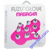 Fuzu Glove Massager Pink 360 Rotating roller balls