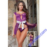 Parisian Ladylove Babydoll Underwired Ribbon Bow Lingerie D1435