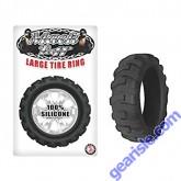 Mack Tuff Silicone Large Tire Cock Ring Black