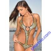 Monokini One Piece Solid O-Ring Thong Xposed Skinz