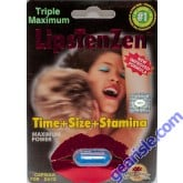 LipsTenZen 2250mg/pwr Triple Maximum Genuine Natural Enahncement for Men 1 Pill